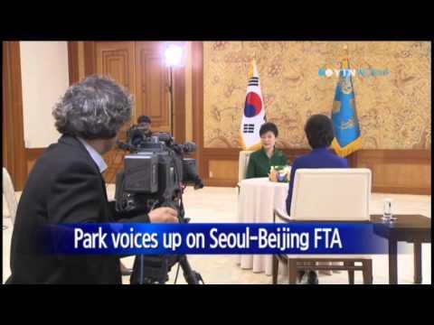 Pres. Park: S.Korea-China FTA will help Asia-Pacific economic unity / YTN