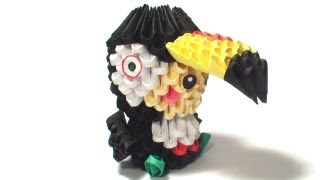 3d Origami Tucan Kid Tutorial