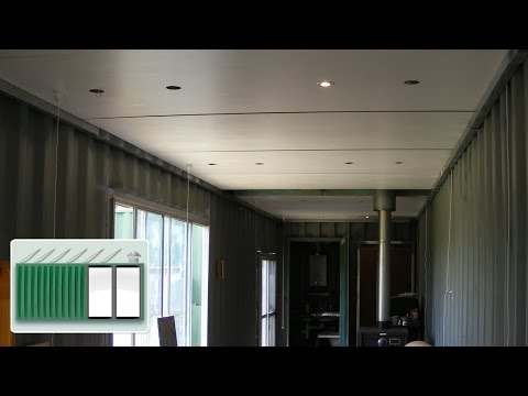 Shipping Container House - Ceiling construction