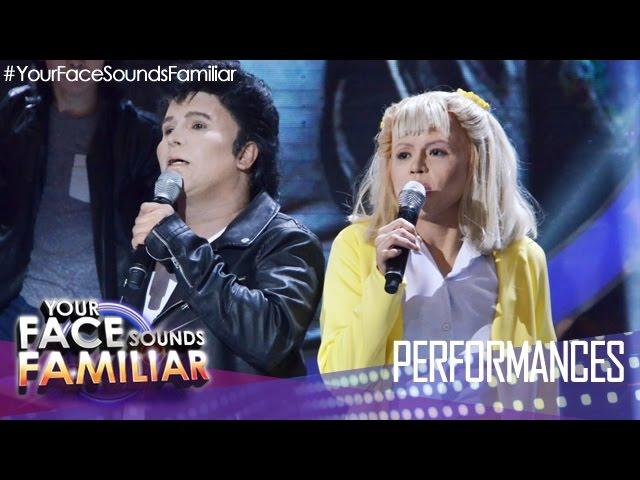 Your Face Sounds Familiar: Eric Nicolas and Melai Cantiveros as John Travolta and Olivia Newton-John
