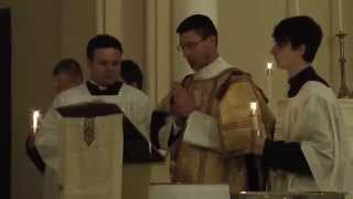 Chanting of the Exsultet (Latin) Easter Vigil Mass St. James Church
