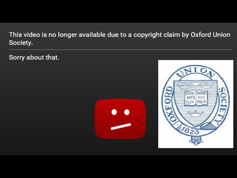 #Censorship from the Oxford Union Society (@OxfordUnion)