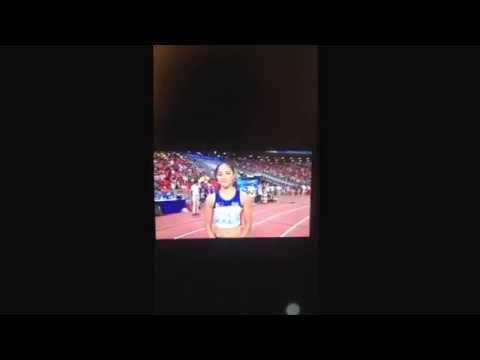 Katherine Khay Santos - Athletics Women's 4x100m Relay Final (courtesy of Sport Singapore) SEAG2015