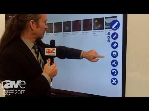 ISE 2017: Kindermann Shows New DisplayBoard, a Sliding Open Storage for Touch Displays