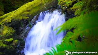 Waterfall Sounds White Noise for Sleep, Focus, Studying   10 Hours