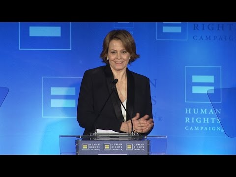 Sigourney Weaver Receives the HRC Ally For Equality Award
