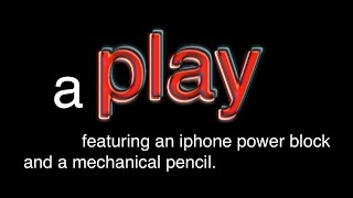 a Play featuring an iphone power block and a mechanical pencil