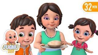 Mummy Ki Roti Gol Gol - Children's popular hindi nursery rhymes and baby song by jugnu kids