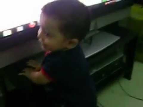 Cute Little Baby Dancing On Ben 10  Song video