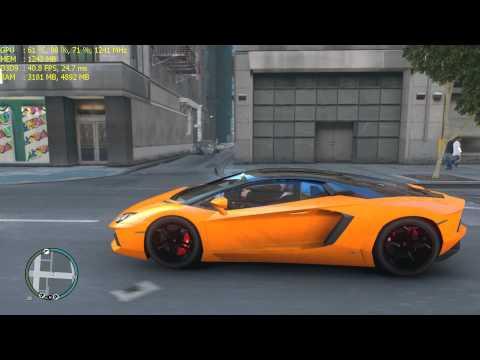 Grand Theft Auto IV ICEhancer 3.0 - Lamborghini Aventador Teste