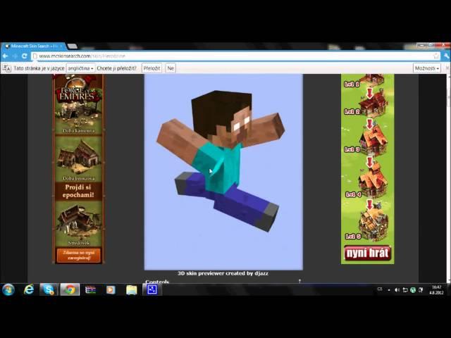 jak přidat skin do minecraftu (zadarmo a i do multiplayeru)
