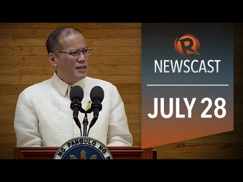 Rappler Newscast: President Aquino SONA 2014, MH17 crash cause