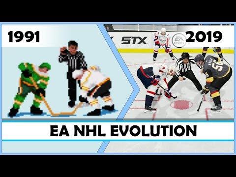 EA NHL evolution 1991 - 2019