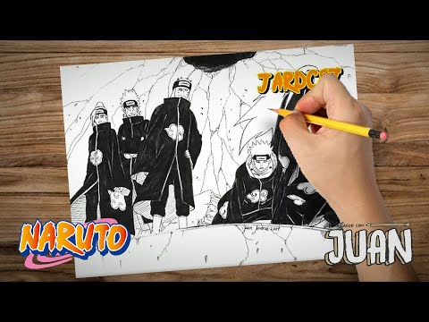 Drawing Six Pain (Naruto Shippuden) Merry Christmas
