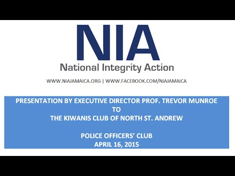 Presentation on Campaign Finance Reform to the Kiwanis Club of North St. Andrew