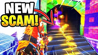 *NEW SCAM* The Gun Slide Trick Scam! (Scammer Gets Scammed) Fortnite Save The World