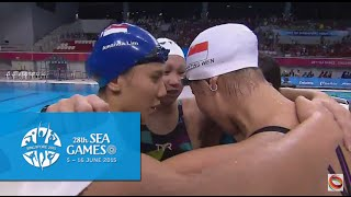 Swimming Women's 4x100m Freestyle Relay Final (Day 1)   28th SEA Games Singapore 2015
