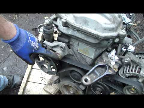 how to check and replace drive belt toyota corolla vvt i engine serpentine belt. Black Bedroom Furniture Sets. Home Design Ideas
