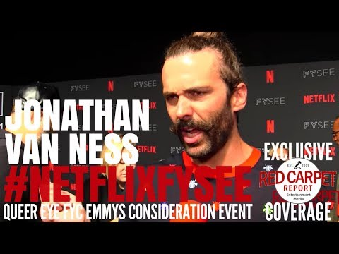 "Jonathan Van Ness interviewed at the ""Queer Eye"" Netflix FYSee Event #NetflixFYSee"