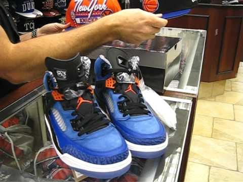 Air Jordan Spizike NY Knicks - Spike Lee - Blue, Orange, Black & White at Street Gear, Hempstead NY
