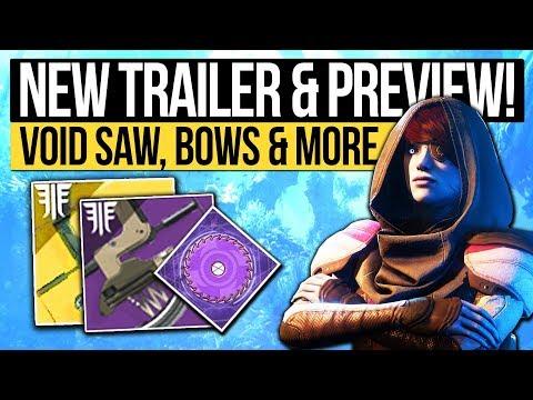 Destiny 2 Forsaken | NEW TRAILER & VOID SAWBLADES! Exotic Bows, Dreaming City, Enemies & More thumbnail