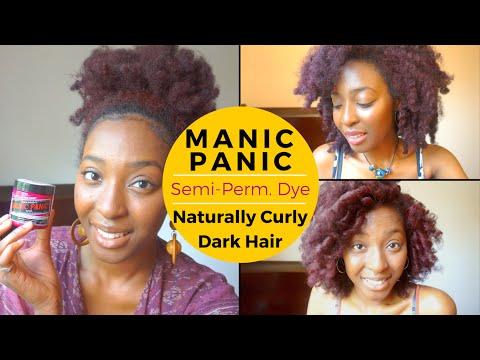 Manic Panic Dye Tutorial + Review   Natural Curly Dark Hair   (No Bleach/Lightened)   Bonnie Adams