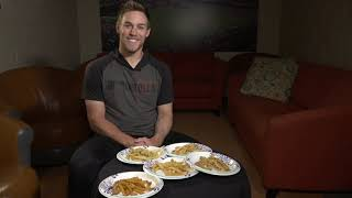 Orioles pitcher Paul Fry taste tests french fries
