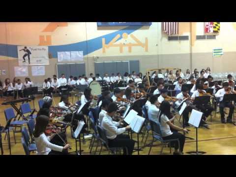 Julius West Middle School Festival Orchestra - Mozart Canon