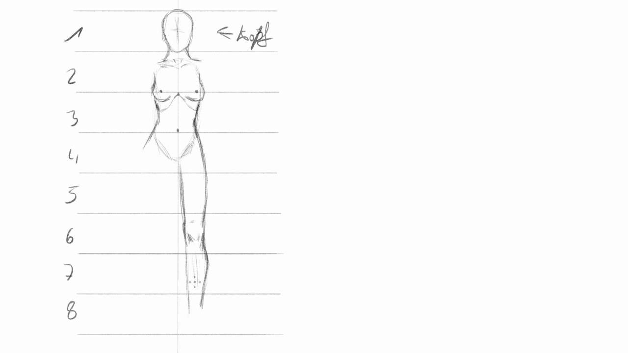 Frauen zeichnen (1): Grundlegende Proportionen - YouTube
