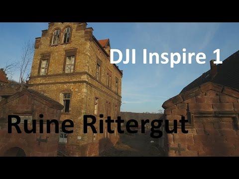 Teil 1 Ruine Rittergut Friedeburg DJI Inspire 1 Teil 2 Ruine Rittergut Thierbach in 4K UHD
