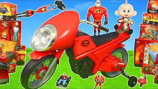 Incredibles 2 Unboxing: Ride On Sportbike, Jack Jack, Toy Vehicles & Superheroes Toys for Kids