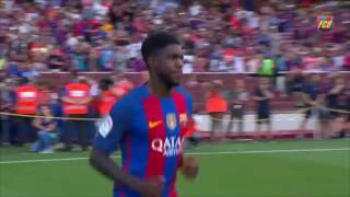 Présentation de Samuel Umtiti au Camp Nou (Barcelone) en août 2016 - Footbol