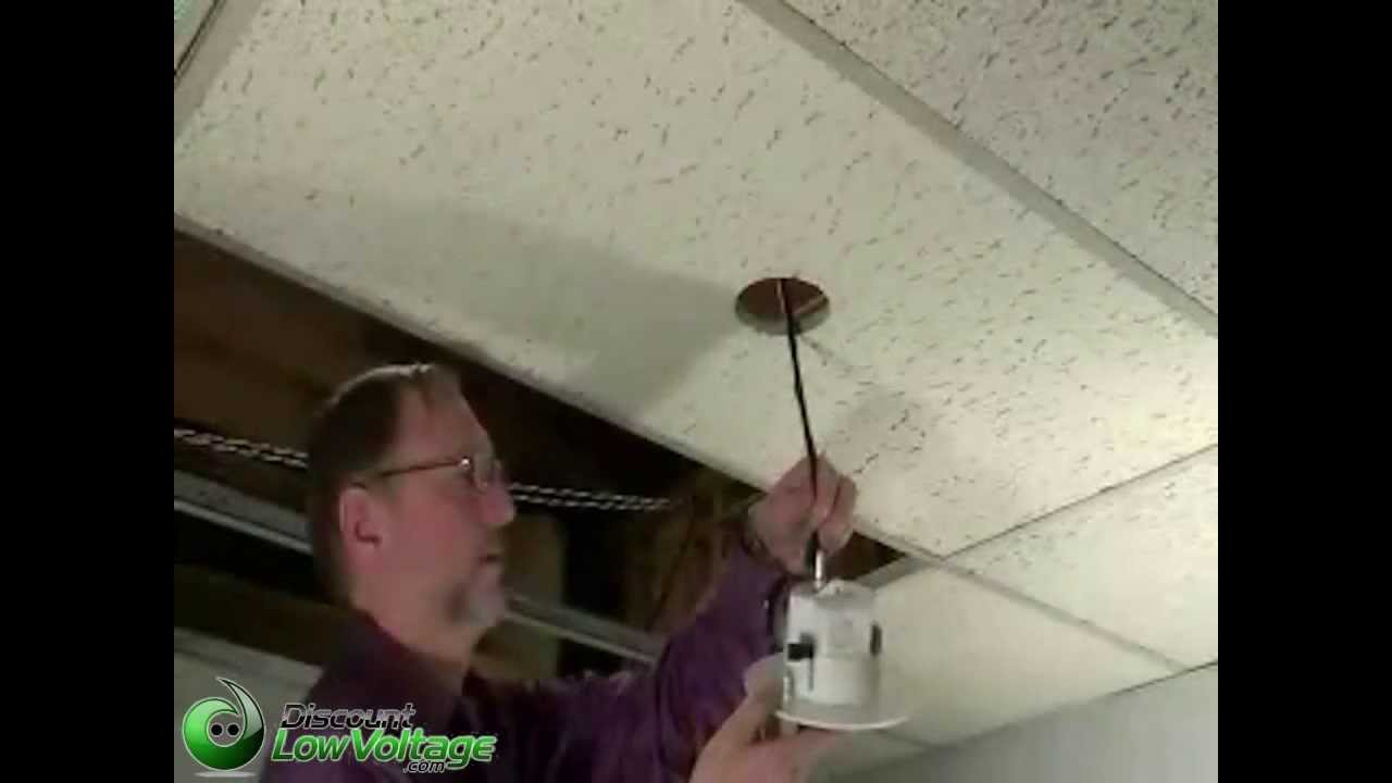How To Mount A Security Camera To A Ceiling Tile Youtube