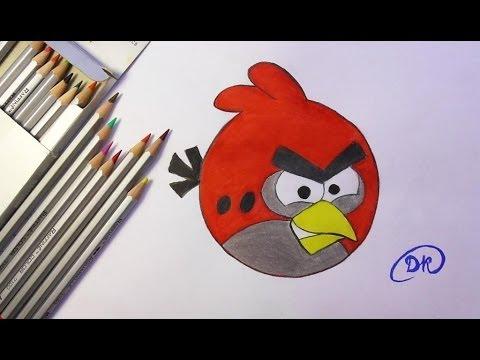Видео как нарисовать птичку из Angry Birds