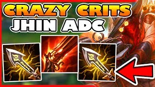 JHIN ADC WITH DOUBLE INFINITY EDGE 100% CRIT BUILD! - League of Legends