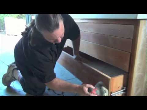Sanding Wood Cabinets for Refinish part 5 / From paint Concept to FULL Varnish Restoration