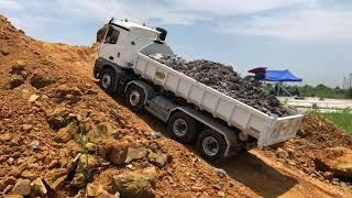 How to clean wash  1.14 Rc Excavator and rc truck   Rửa xe điều khiển từ xa