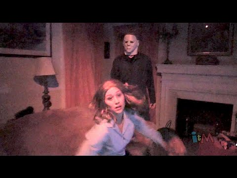 Halloween Michael Myers haunted house at Halloween Horror Nights...