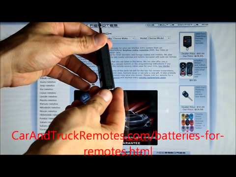 How to Replace Batteries in Car Remote Keyfobs - free instructions