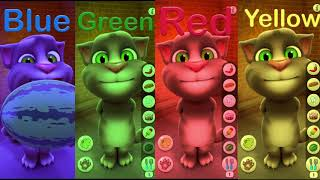 Learn Colors with My Talking Tom Colours for Kids Animation Education Cartoon Compilation P4U