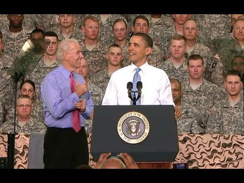 President Obama and Vice President Biden Visit Troops at Fort Campbell