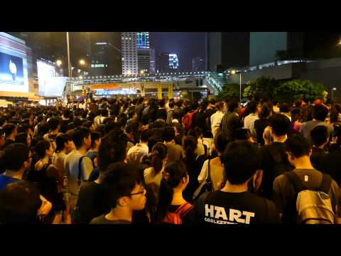 The Umbrella Revolution-- Rally on Anti-violence and Peaceful Protest [4/10/2014]