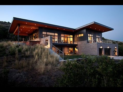 Modern house plans 5860 slc a modern house in salt lake for Modern house design on hillside