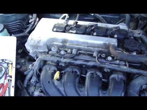 How to change fuel injectors in Toyota Corolla VVTi engine.Years 2000-2007.