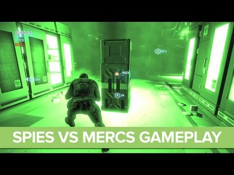 Splinter Cell Blacklist Spies vs Mercs Gameplay Preview - Multiplayer Gameplay