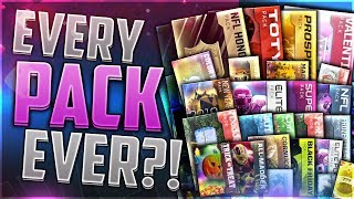 EVERY PACK EVER! Historical PACK OPENING | Madden Mobile 18 EDITION!