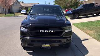 First REVIEW of a new black 2019 RAM 1500 Laramie with Sport Package!