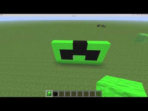 minecraft creeper head tutorial!!!!