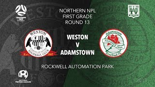 2019 NPL Northern NSW u20s and 1st Grade Round 13 Weston Workers Bears v Adamstown Rosebud