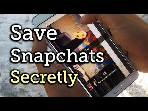 Save Snapchats Without Notifying the Sender - Samsung Galaxy Note 3 [How-To]
